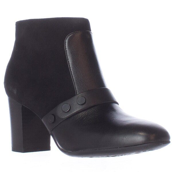 Easy Spirit Arietta Studded Ankle Boots, Black Combo