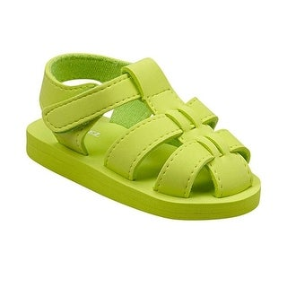 Angel Baby Girls Lime EVA Foam Fisherman Sandals 11-12 Little Kids