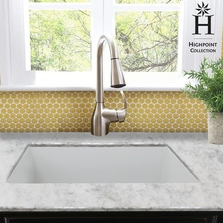 Link to Highpoint Collection Undermount Fireclay Kitchen or Bar Sink - 23.5 x 18 x 9 inches Similar Items in Sinks