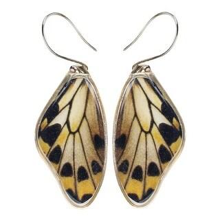 Women's Wallace's Golden Birdwing Butterfly Wing Dangle Earrings - multi