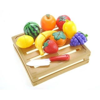 Azimport PS238 Kitchen Cutting Fruits Crate Pretend Food Playset