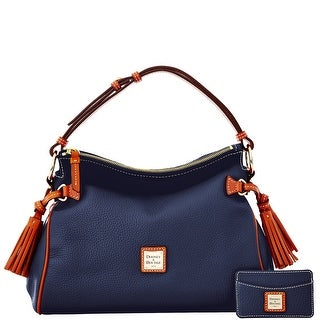 Dooney & Bourke Pebble Grain Satchel and Card Case (Introduced by Dooney & Bourke at $295 in Dec 2014) - Marine