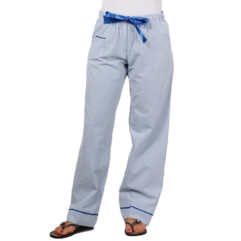 boxercraft Ladies Seersucker Pajama/Dorm Pant With Satin Trim