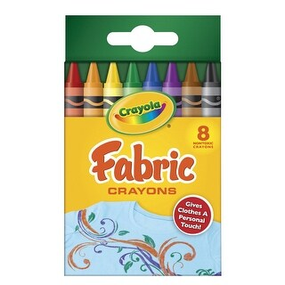 Crayola Non-Toxic Fabric Wax Crayon, Assorted Color, Pack of 8