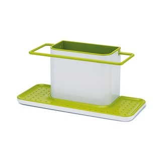 Joseph Joseph Sink Caddy Kitchen Sink Organizer Holder, Large, Green & White