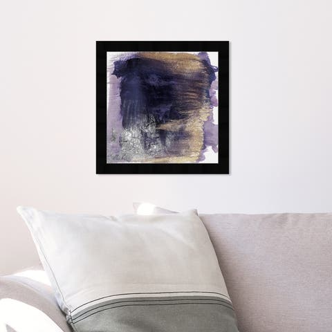 Oliver Gal 'Cressida Amethyst' Abstract Framed Wall Art Prints Watercolor - Purple, Purple