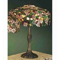Meyda Tiffany 31148 Stained Glass / Tiffany Table Lamp from the Cherry Blossom Collection - n/a