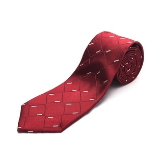 Luciano Barbera Men Slim Silk Neck Tie Maroon