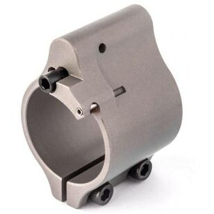 "Superlative ARMS .936"" Adjustable Gas Block Bleed Off Clamp On - Silver/Stainless Steel"