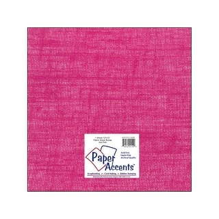 Fabric Sheet 12x12 Burlap Hot Pink 1pc