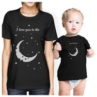 Moon And Back Mom and Baby Matching Gift Shirts Cute Mothers Day