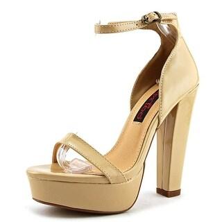 2 Lips Too Too Odette   Open Toe Patent Leather  Platform Heel