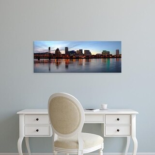 Easy Art Prints Panoramic Images's 'Buildings at the waterfront, Portland, Multnomah County, Oregon, USA' Canvas Art