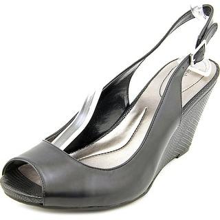 Style & Co Babeta Open Toe Synthetic Wedge Sandal