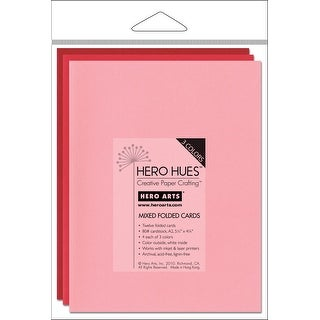 "Hero Arts A2 Cards (4.25""X5.5"") 12/Pkg-Blush Mix - Pink"
