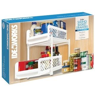 Two-Tier Sliding Basket Drawers - Adjustable Home Closet Organizer