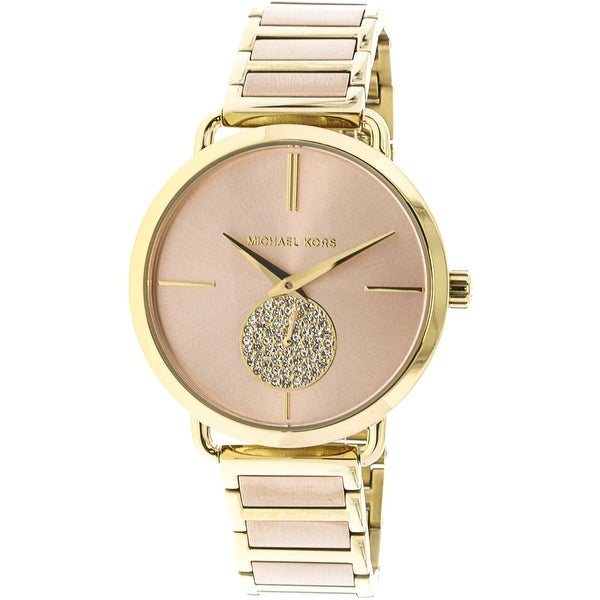 86c20500ab8b Shop Michael Kors Women s Portia Multicolor Stainless-Steel Fashion Watch - Free  Shipping Today - Overstock.com - 19385497