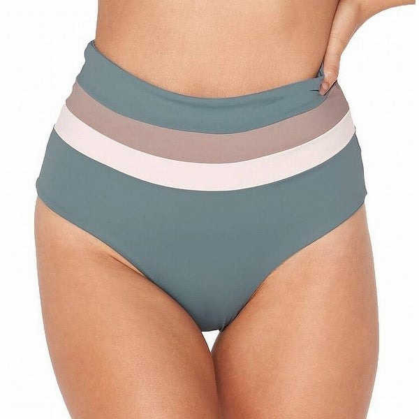 d617ffac5d Shop L Space NEW Blue Women's Size Medium M High Waist Striped Bikini  Bottom - Free Shipping On Orders Over $45 - Overstock - 21709280