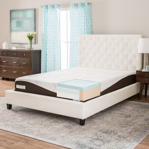 ComforPedic from Beautyrest 10-inch Gel Memory Foam Mattress - White/Brown