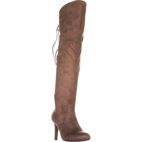 Rialto Calla Pull On Over-The-Knee Boots, Taupe