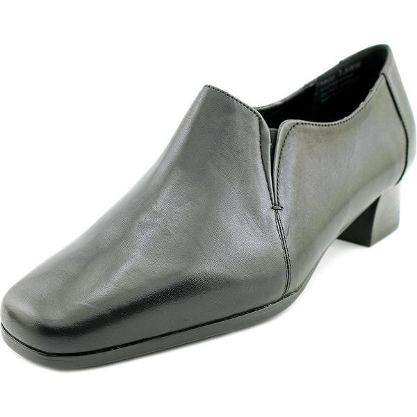 David Tate Sport Women SS Square Toe Leather Black Loafer