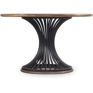 """Hooker Furniture 5382-75203  48"""" Diameter Acacia Wood Dining Table from the Studio 7H Collection"""