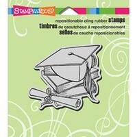 """Cap & Scroll - Stampendous Cling Rubber Stamp 3.5""""X4"""" Sheet"""