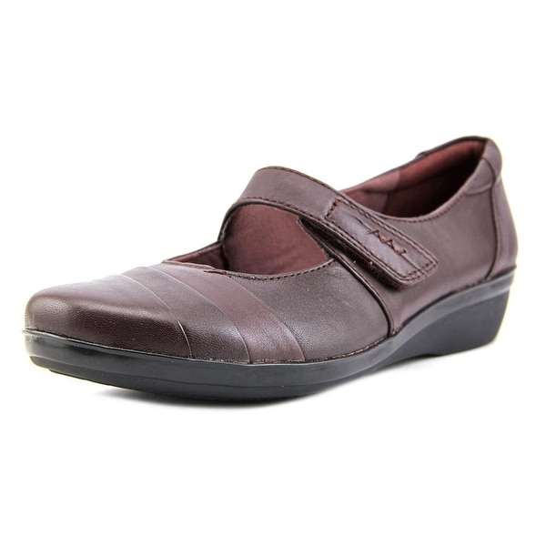 Clarks Everlay Kenon Women Round Toe Leather Brown Mary Janes