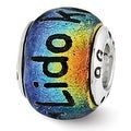 Sterling Silver Reflections Lido Key Dichroic Glass Bead (4mm Diameter Hole) - Thumbnail 0