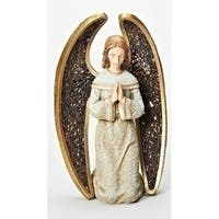 "8"" Joseph's Studio Praying Angel with Mosaic Wings Table Top Christmas Decoration"