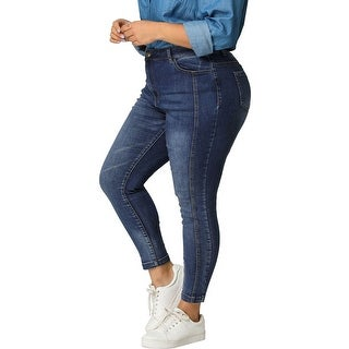 Link to Women's Plus Size Mid Rise Stretch Washed Skinny Jeans Similar Items in Pants