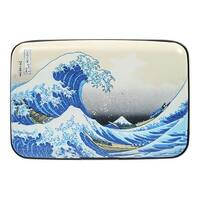 Women's Fine Art Identity Protection RFID Wallet - Hokusai Wave - Medium
