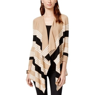 Cable & Gauge Womens Cardigan Sweater Knit Striped