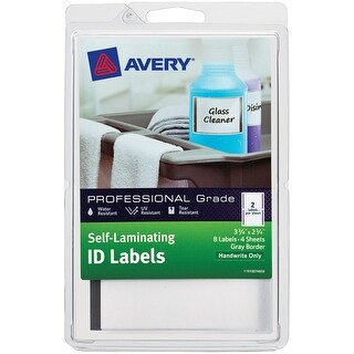 "Self-Laminating ID Labels-2.75""X3.75"" 8/Pkg"