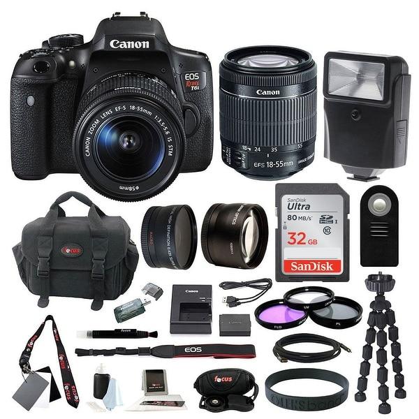 Canon EOS Rebel T6i DSLR Camera w/ 18-55mm f/3.5-5.6 Lens & 32GB SD Card Bundle