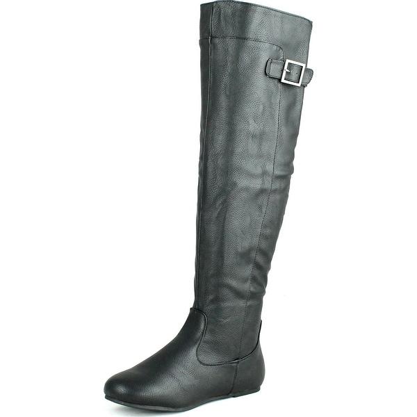 Bamboo Womens Rebeca-60 Round Toe Single Buckle Fashion Boots