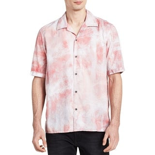 Calvin Klein Jeans NEW Coral Red Mens Size Small S Button Down Shirt