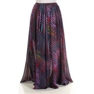 FREE PEOPLE $128 Womens New 1188 Blue Striped Full-Length A-Line Skirt S B+B