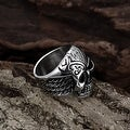 Vienna Jewelry Thick Rounded Stainless Steel Skull Ring - Thumbnail 3