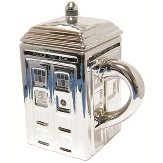 Doctor Who Chrome Tardis Ceramic Mug - Multi