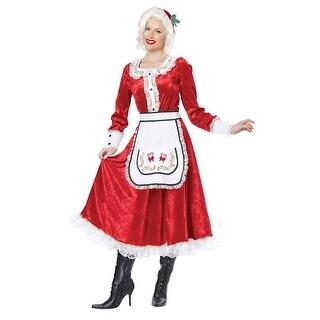 Womens Classic Mrs. Claus Halloween Costume