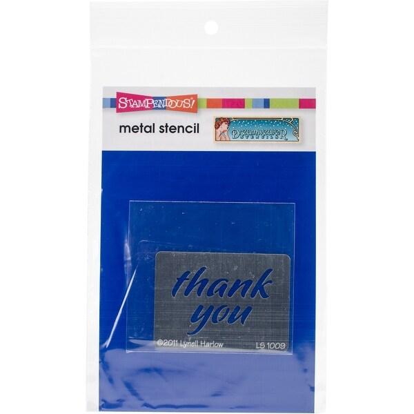 """Dreamweaver Metal Stencil 4""""X6.875""""-Thank You"""
