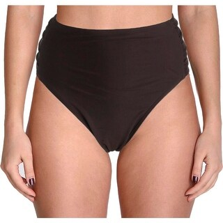 Ibiza Womens Plus Godiva Side Tab Hipster Swim Bottom Separates