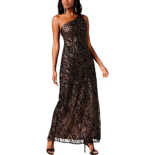 45e5fada30e4 Shop Nightway Womens Evening Dress Sequined One Shoulder - Free ...