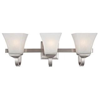 Design House 514760 Torino Transitional 3 Light Up Lighting Bathroom Vanity Fixture