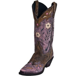 Laredo Western Boots Womens Miss Kate Arrow Cowboy Tan Pink