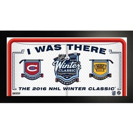 "2016 NHL Winter Classic ""I Witnessed History"" 10x20 Framed Photo"