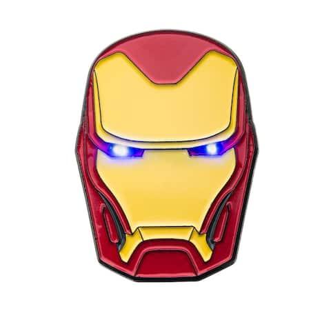 Marvel Iron Man Helmet Light Up Enamel Pin - Blue