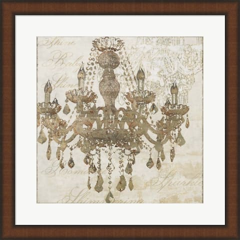 Cora Niele 'Bronze Chandelier IV' Framed Art