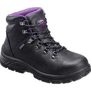 4b911d7d076 Shop Avenger Women s A7124 Steel Toe EH Waterproof Hiker Black Leather -  Free Shipping Today - Overstock - 11347487